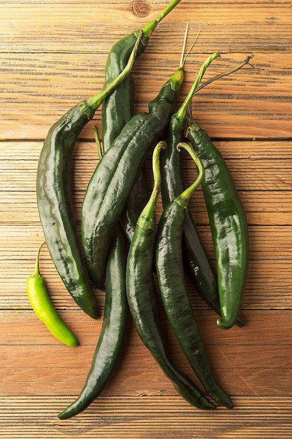 fresh chilaca chiles