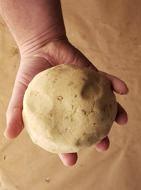 masa dough for homemade corn tortillas