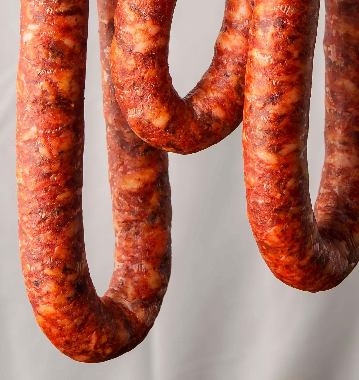 Mexican longaniza sausage hanging