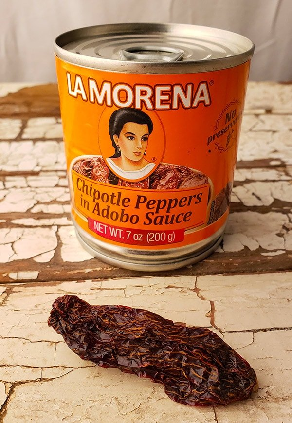 morita chiles, canned and dried.