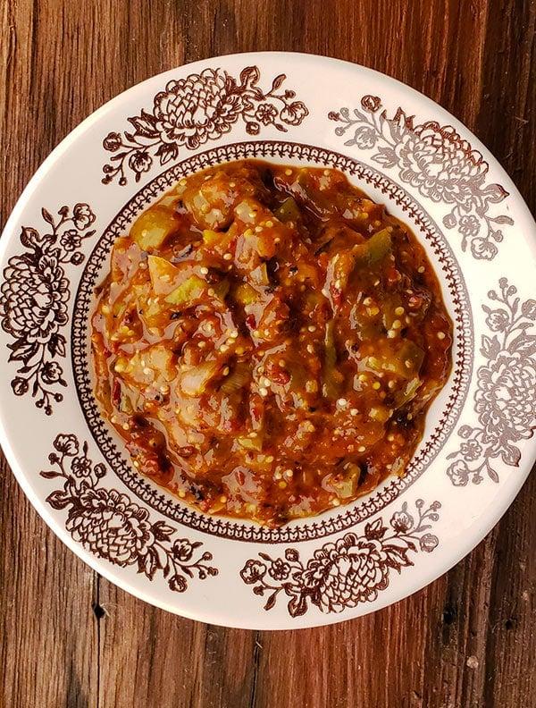Finished salsa morita recipe in a bowl