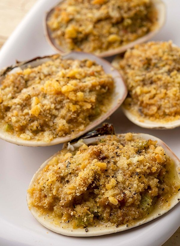 stuffed clams ready to eat