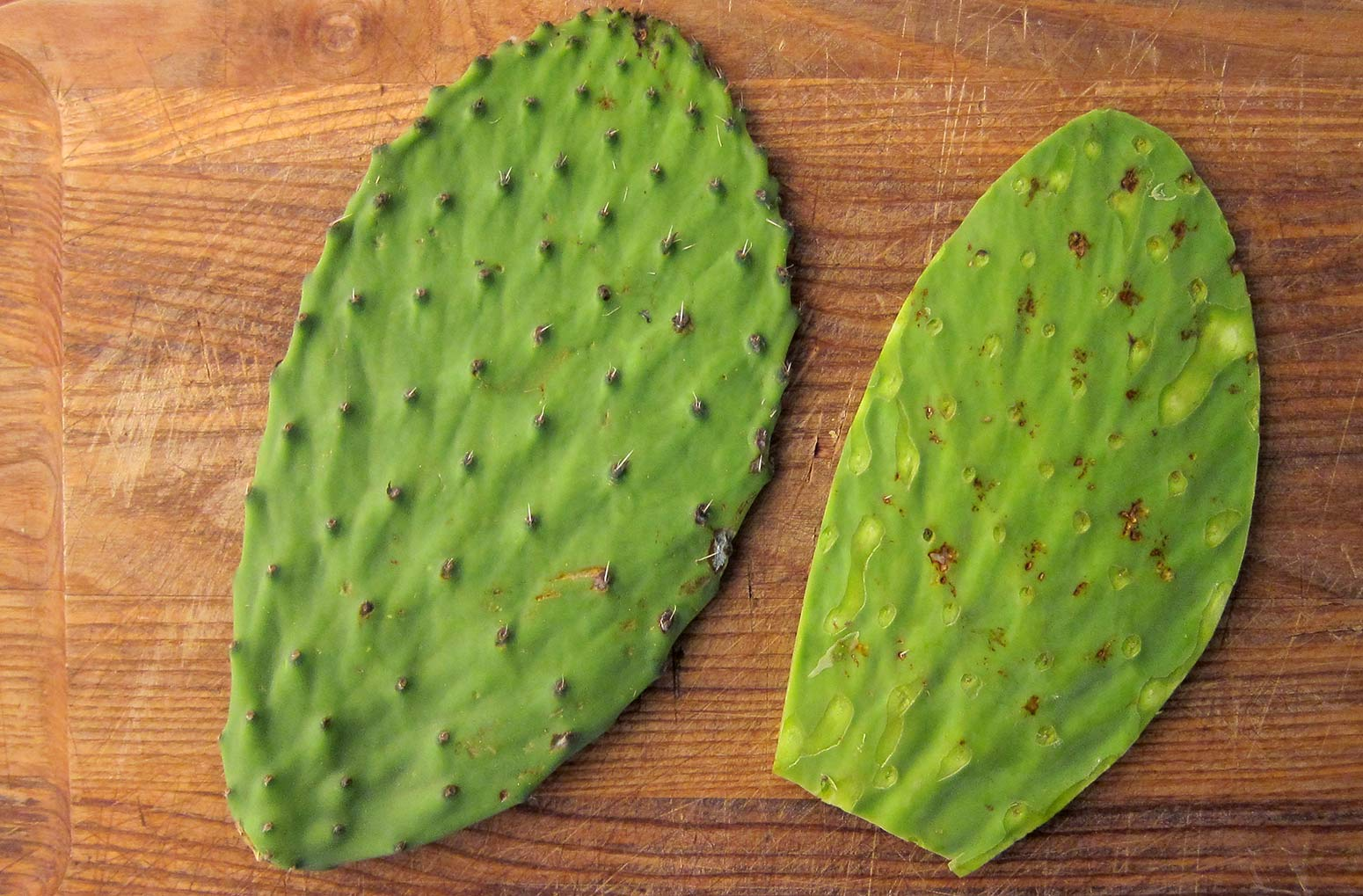how to clean nopales