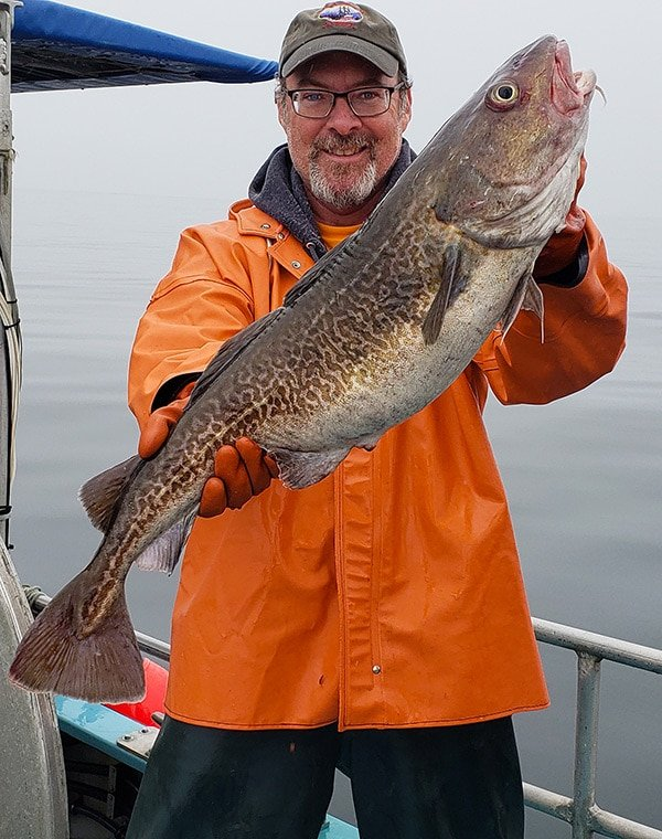 Hank Shaw with a Pacific cod
