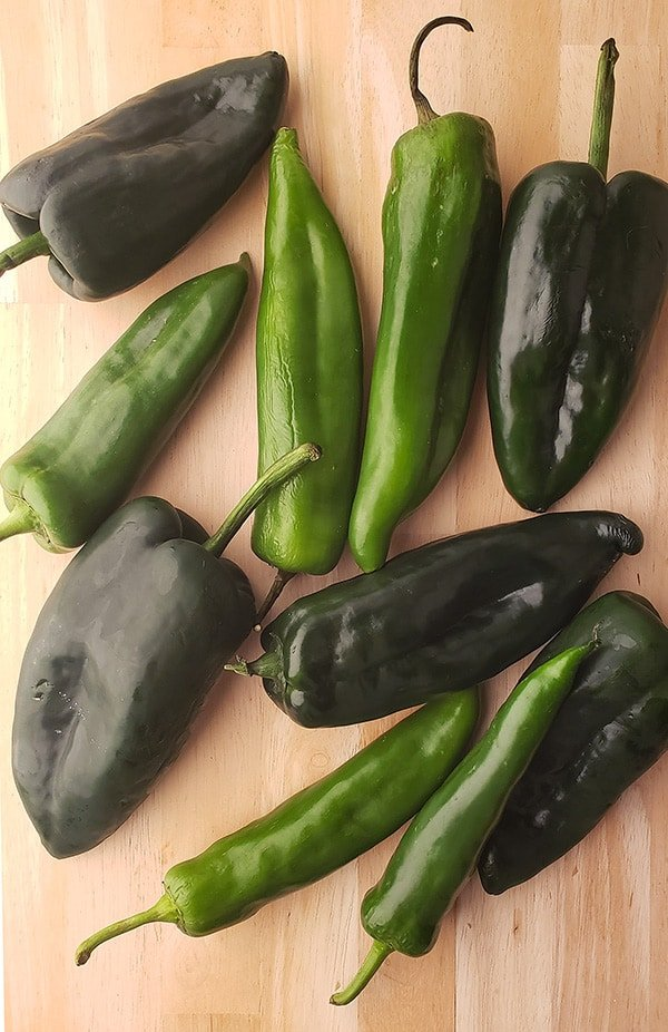 green chiles for chile pasado