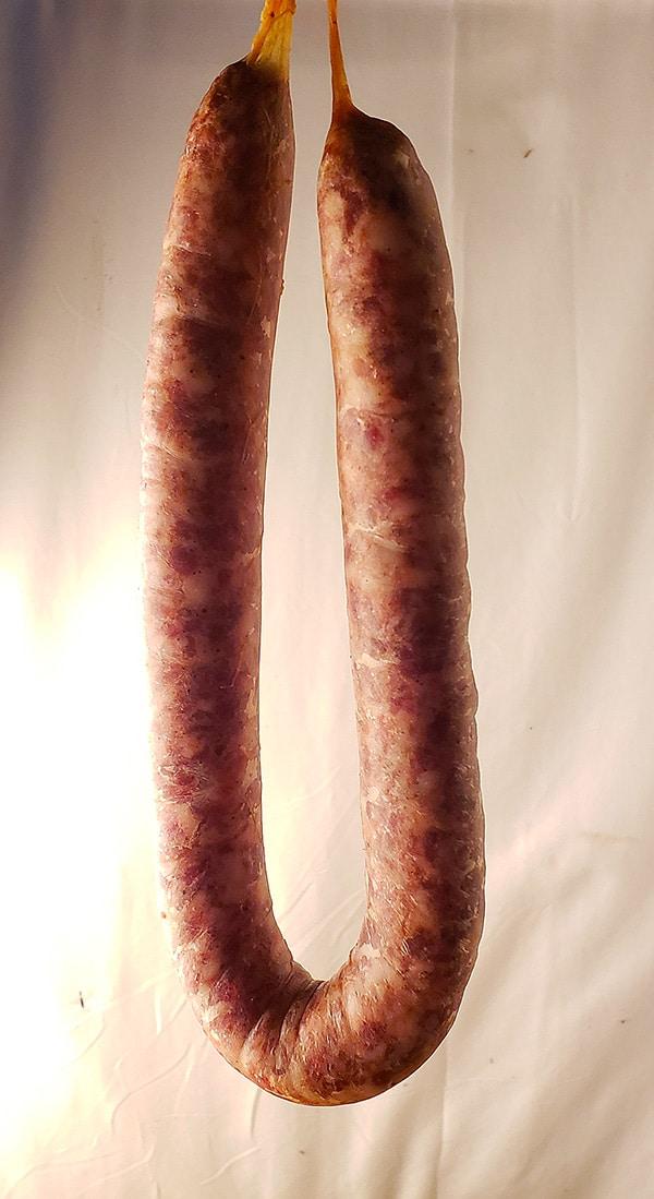 Butifarra sausage hanging