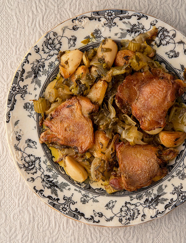 40 clove garlic chicken vertical