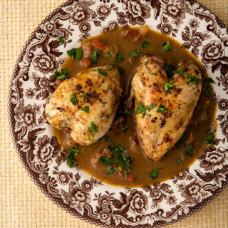 Southern red eye gravy with quail