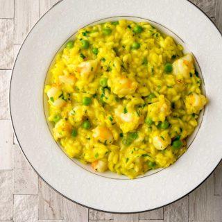 A bowl of shrimp risotto