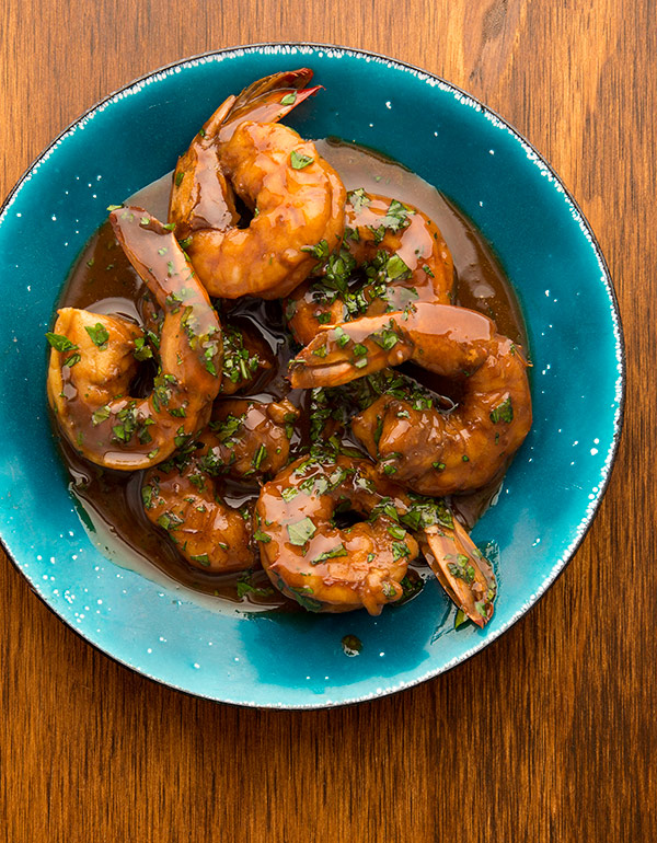 cooked NOLA BBQ shrimp