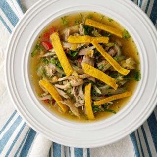 A bowl of sopa de lima