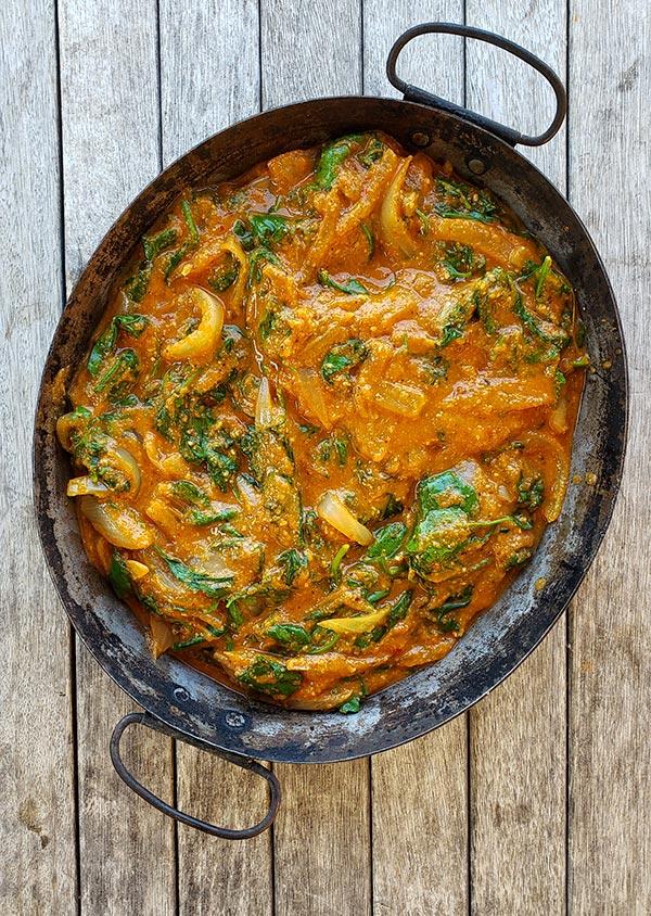 Ghanaian vegetarian curry in a bowl