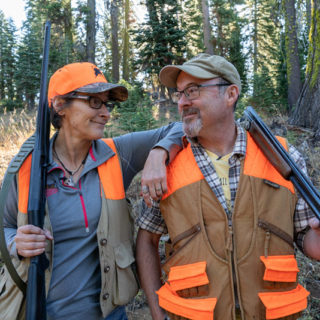 Holly Heyser and Hank Shaw after a hunt.