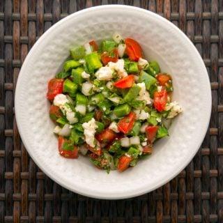 A bowl of ensalada de nopales