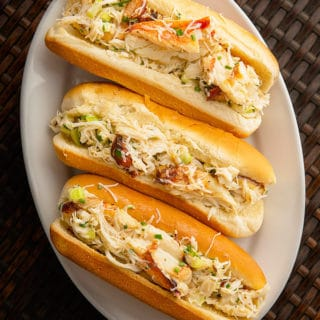 crab rolls on a plate