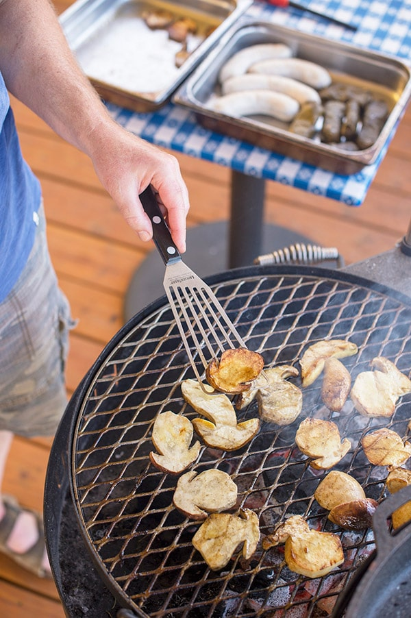 Hank Shaw grilling mushrooms