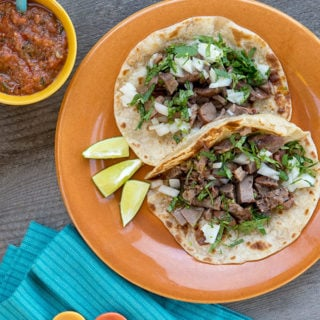 Tongue tacos recipe ready to eat