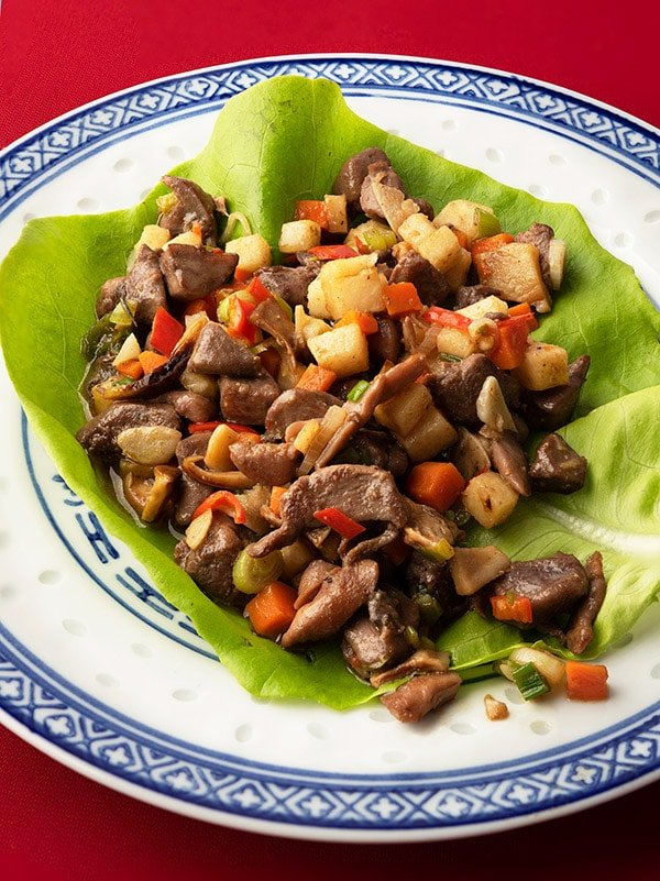 Chinese lettuce cups with minced meat