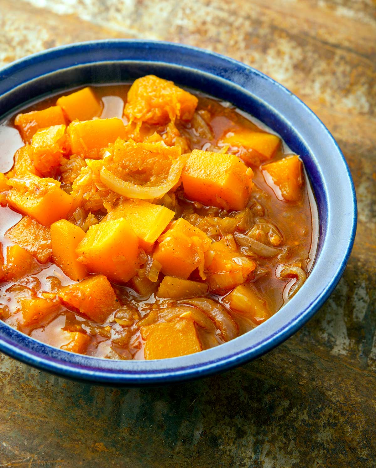 A bowl of butternut squash curry