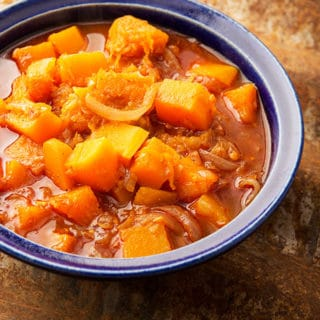 A bowl of squash curry