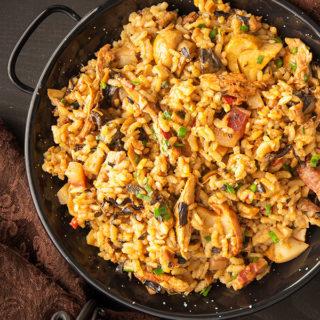 Spanish mushroom rice recipe