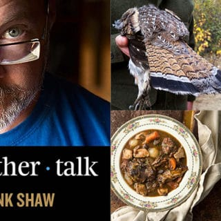 Hank Shaw podcast ruffed grouse episode art
