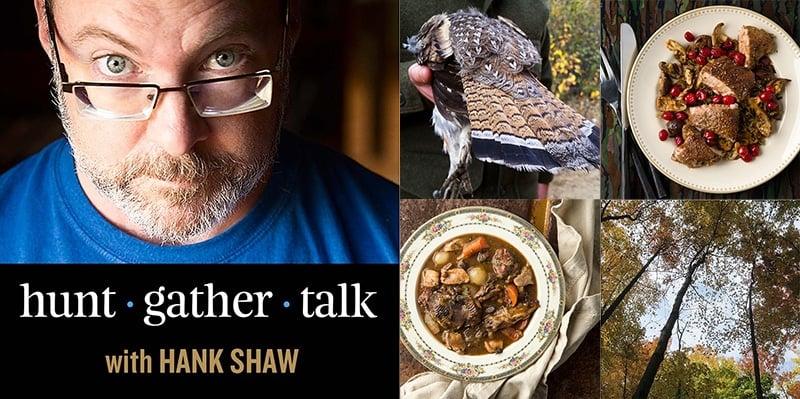 Hank Shaw podcast ruffed grouse episode art