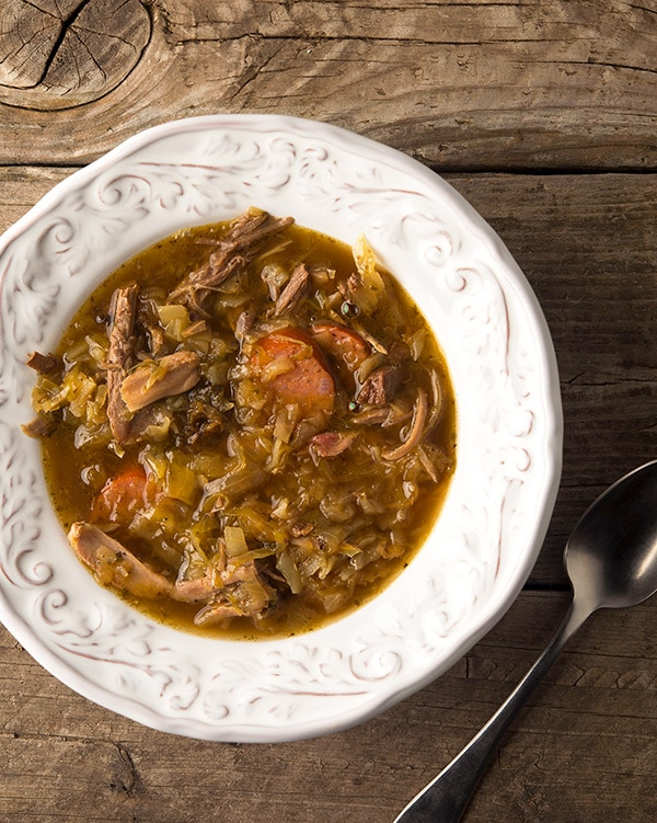 Polish bigos recipe in a bowl