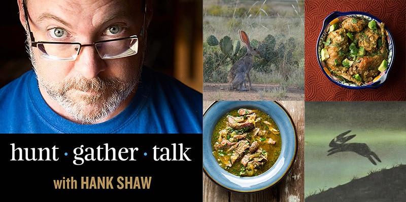 Hank Shaw's rabbit podcast episode art