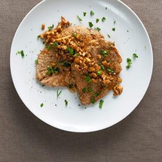 turkey marsala recipe on the plate