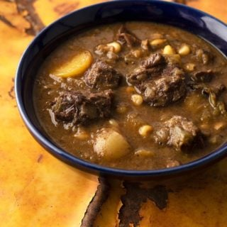 A bowl of green chile stew
