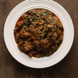 A recipe for Ghanaian palava sauce
