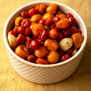 A bowl of cherry tomato confit